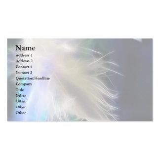 Pluma del ángel tarjetas de visita