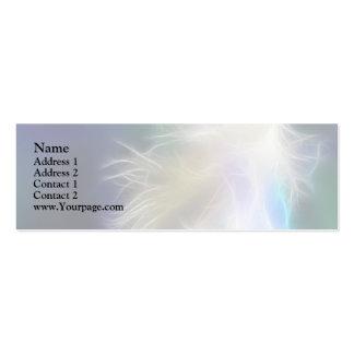 Pluma del ángel tarjetas de visita mini