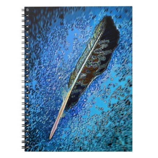 Pluma del cuervo spiral notebooks
