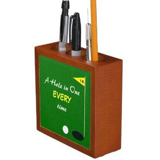 Pluma del golf y tenedor divertidos del lápiz