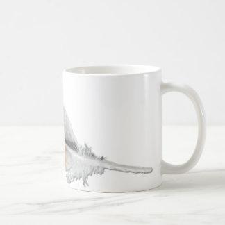 pluma del halcón de la Rojo-cola Tazas