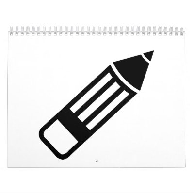 Pluma del lápiz calendarios