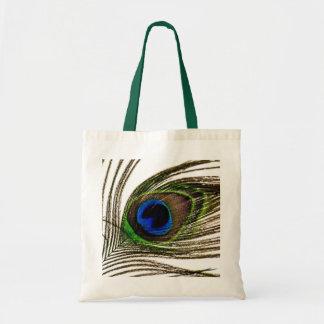 Pluma del pavo real bolsas de mano
