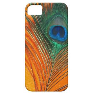 Pluma del pavo real con todavía del brillo vida an iPhone 5 carcasa