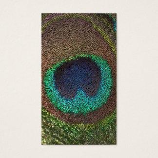 pluma del pavo real de la señal tarjeta de negocios