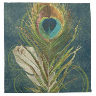 Pluma del pavo real del trullo del vintage servilletas de papel