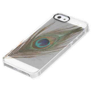 Pluma del pavo real funda clearly™ deflector para iPhone 5 de uncommon