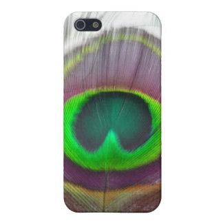 Pluma del pavo real iPhone 5 cárcasa