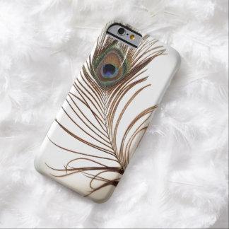 Pluma del pavo real funda para iPhone 6 barely there
