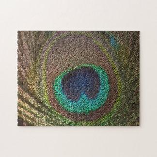 pluma del pavo real (imagen digital) rompecabezas con fotos