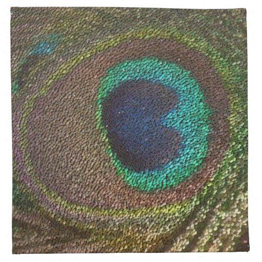 pluma del pavo real (imagen digital) servilleta de papel