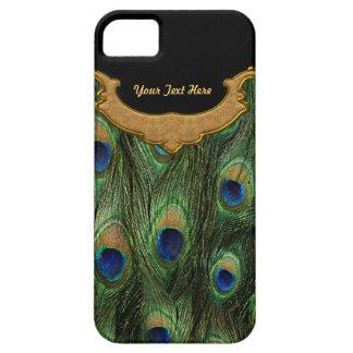 Pluma del pavo real - personalizar iPhone 5 fundas