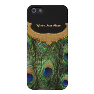 Pluma del pavo real - personalizar iPhone 5 coberturas