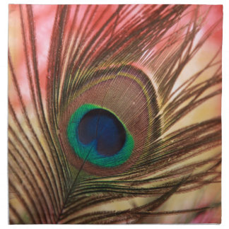 Pluma del pavo real servilletas