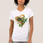 Pluma del pavo real y subió camisetas