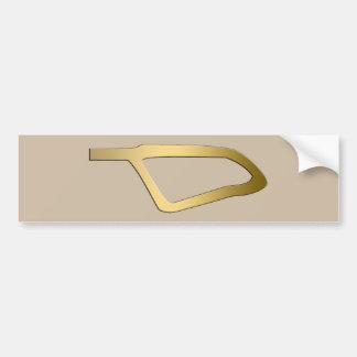 Pluma del símbolo del egipcio de Maat Pegatina Para Auto