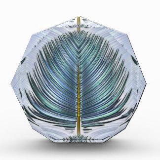 Pluma estilizada del pavo real - azul