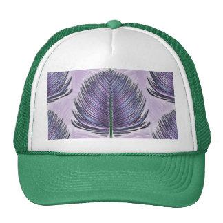 Pluma estilizada del pavo real - púrpura gorras