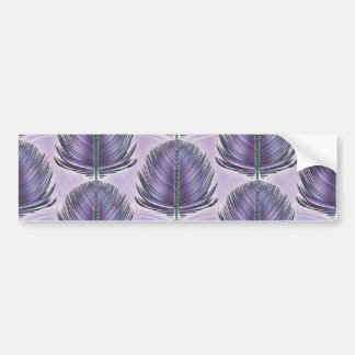 Pluma estilizada del pavo real - púrpura pegatina para auto