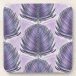 Pluma estilizada del pavo real - púrpura posavasos