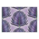 Pluma estilizada del pavo real - púrpura tarjetas