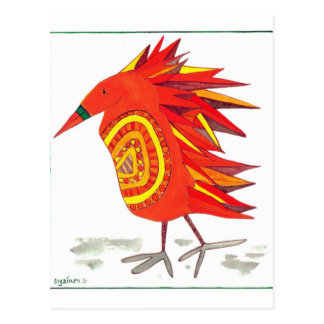 Pluma Gota-Hinchada postal del bloque del pájaro