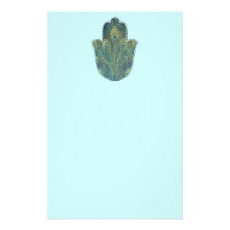 Pluma Hamsa del pavo real Papeleria De Diseño