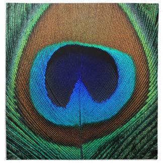 Pluma hermosa del pavo real servilleta de papel