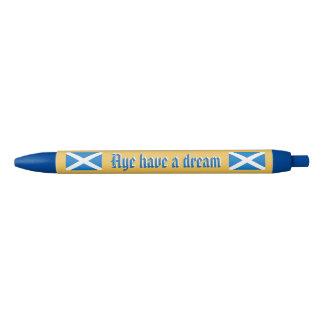 Pluma ideal escocesa de la independencia Aye Bolígrafo Tinta Negra