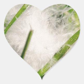Pluma macra pegatina en forma de corazón