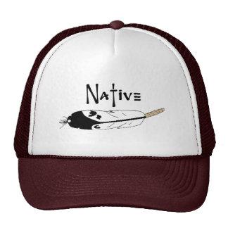 Pluma nativa gorros bordados