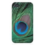 Pluma negra i del pavo real iPhone 4/4S funda