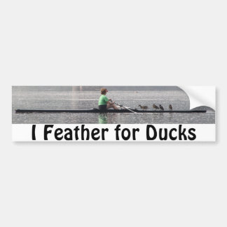 Pluma para los patos pegatina para auto