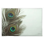 Pluma Placemat del pavo real Manteles