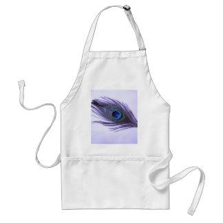 Pluma púrpura del pavo real delantales