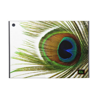 Pluma real del pavo real de la foto macra en mini iPad mini funda