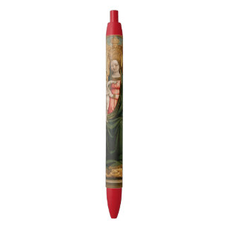 "Pluma religiosa ""del arte de la Virgen y del niño"" Boligrafo Tinta Roja"