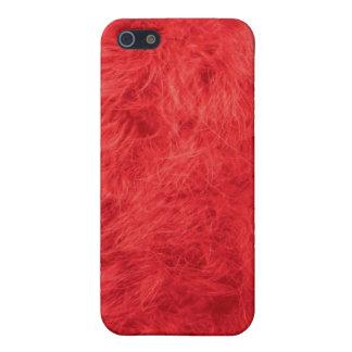 Pluma roja iPhone 5 carcasas