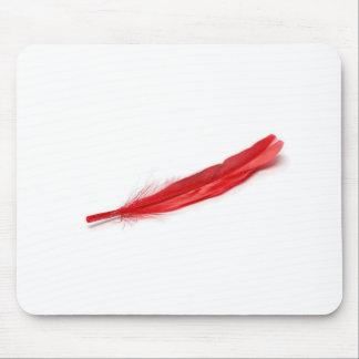Pluma roja alfombrilla de ratón