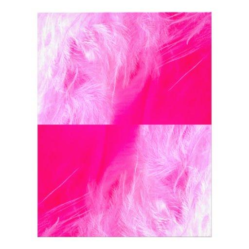"""Pluma rosada, pluma rosada folleto 8.5"""" x 11"""""""
