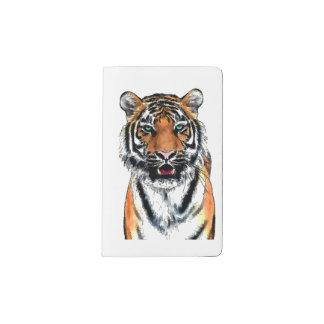 Pluma-tinta del tigre funda para libreta y libreta pequeña moleskine