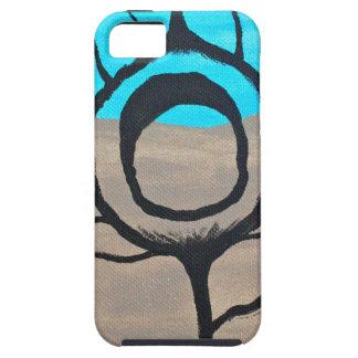 Pluma tricolora del pavo real iPhone 5 protector