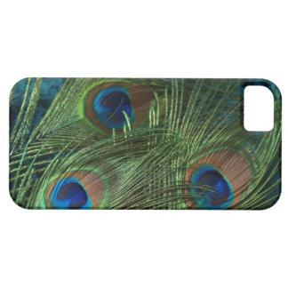 Pluma verde del pavo real iPhone 5 Case-Mate carcasa