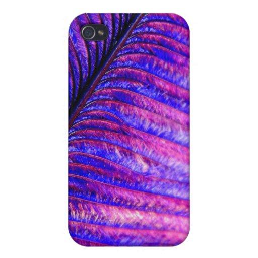 Pluma violeta iPhone 4/4S carcasa