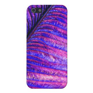 Pluma violeta iPhone 5 funda