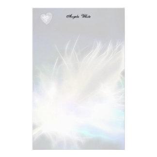 ¡Pluma y corazón del ángel! Papelería De Diseño