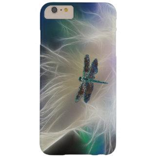 Pluma y libélula del ángel funda de iPhone 6 slim