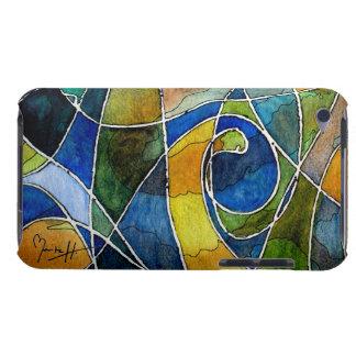 Pluma y tinta abstractas de la acuarela iPod touch Case-Mate carcasas