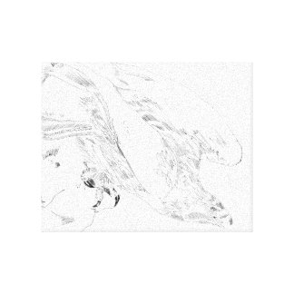 Pluma y tinta de Eagle Impresión En Tela