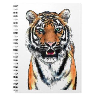 Pluma y tinta del tigre cuaderno